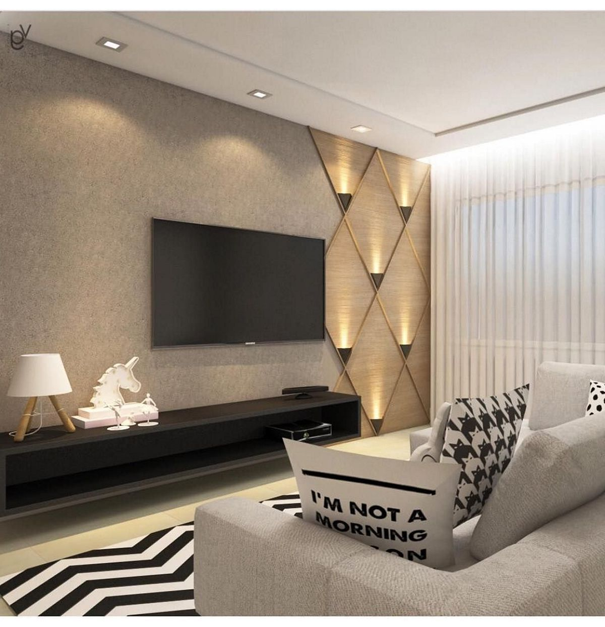The Perfect TV Wall Ideas That Will Not Sacrifice Your Look - 06 • InteriorDUB