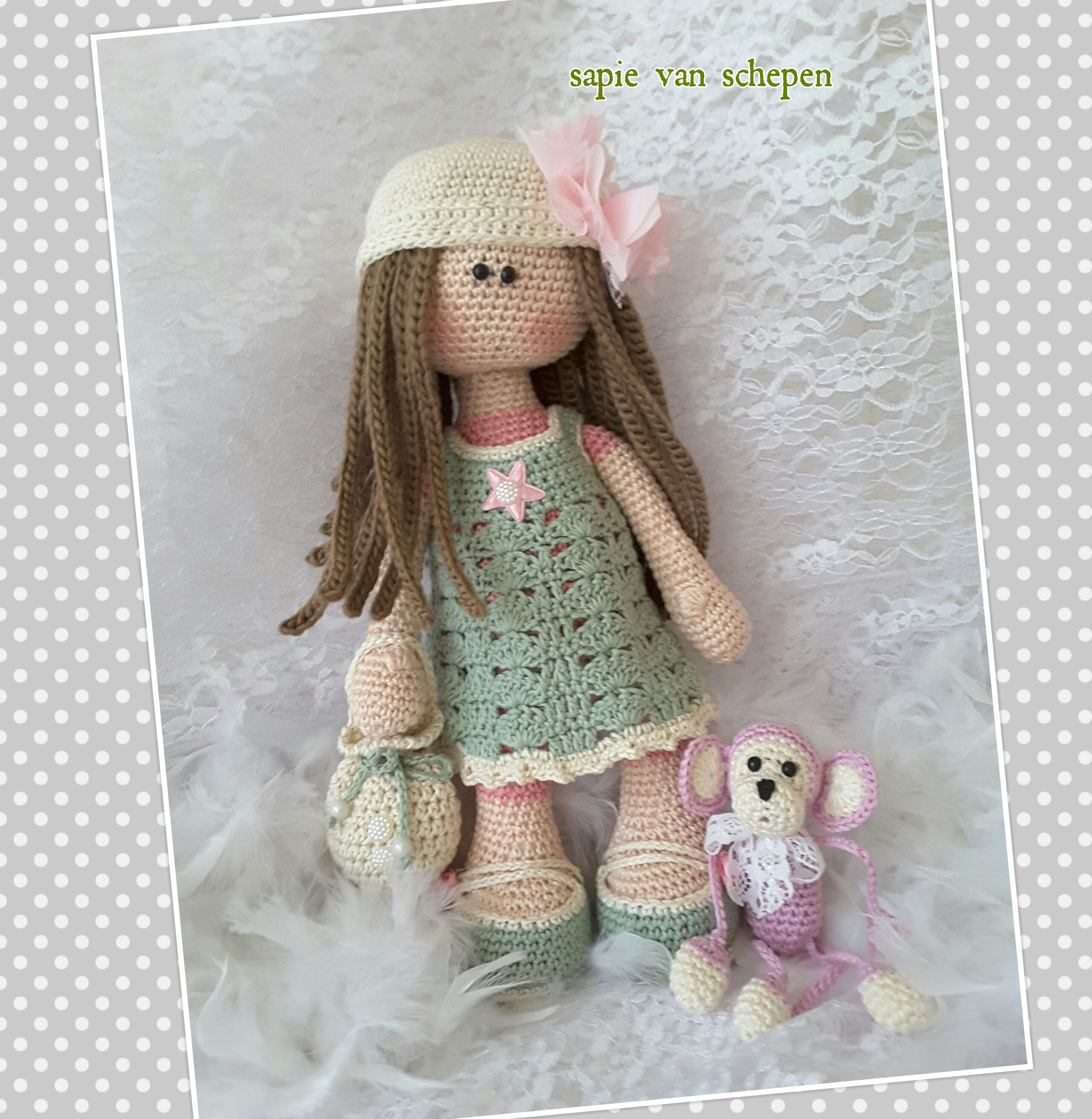 Cute Lilly Goes To Bed - Lilly Doll Crochet Pattern By ... | 2623x2560