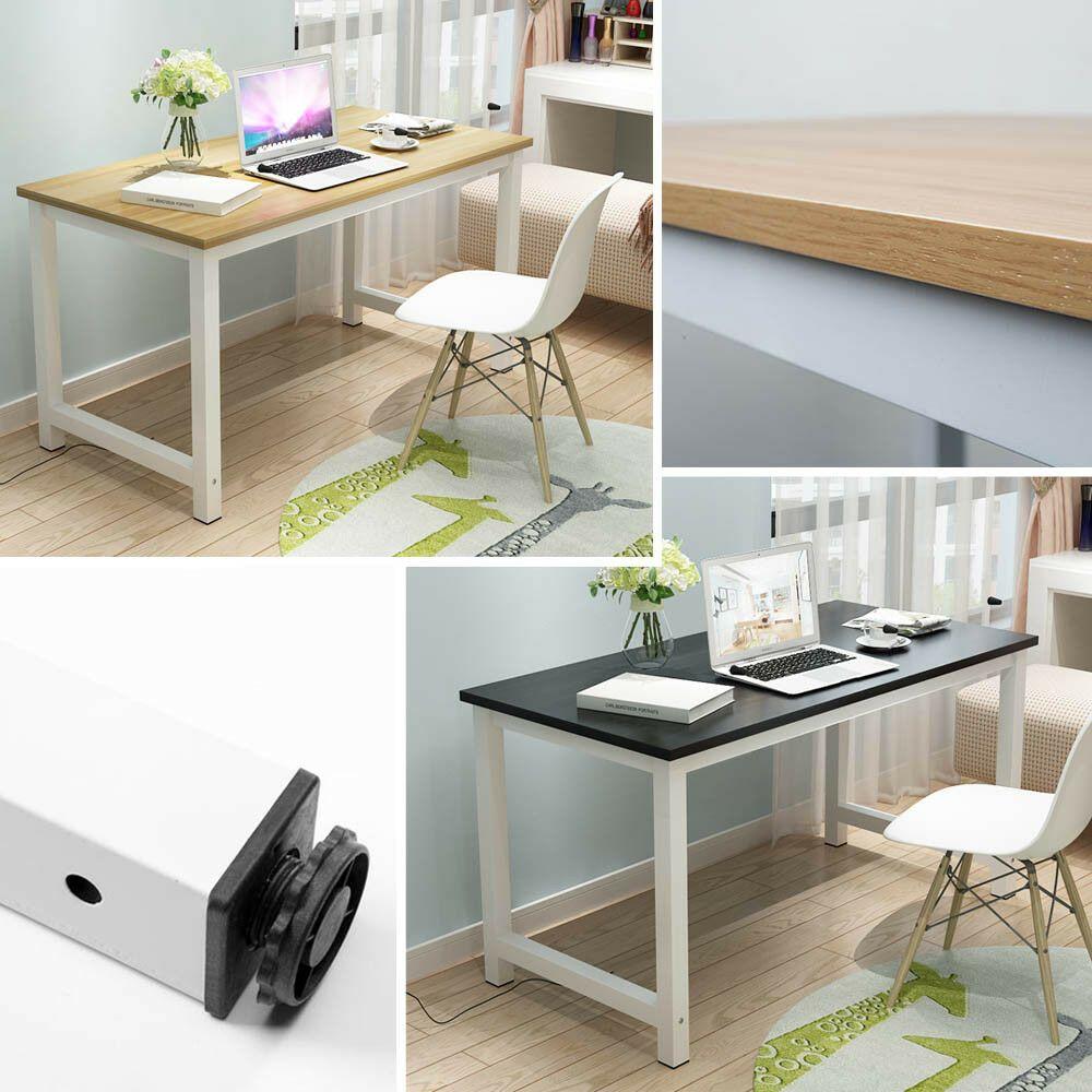 Tremendous Details About Pc Computer Desk Wooden Corner Desktop Table Beutiful Home Inspiration Xortanetmahrainfo