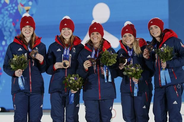 Britain's women curlers, led by Eve Muirhead, celebrated bronze