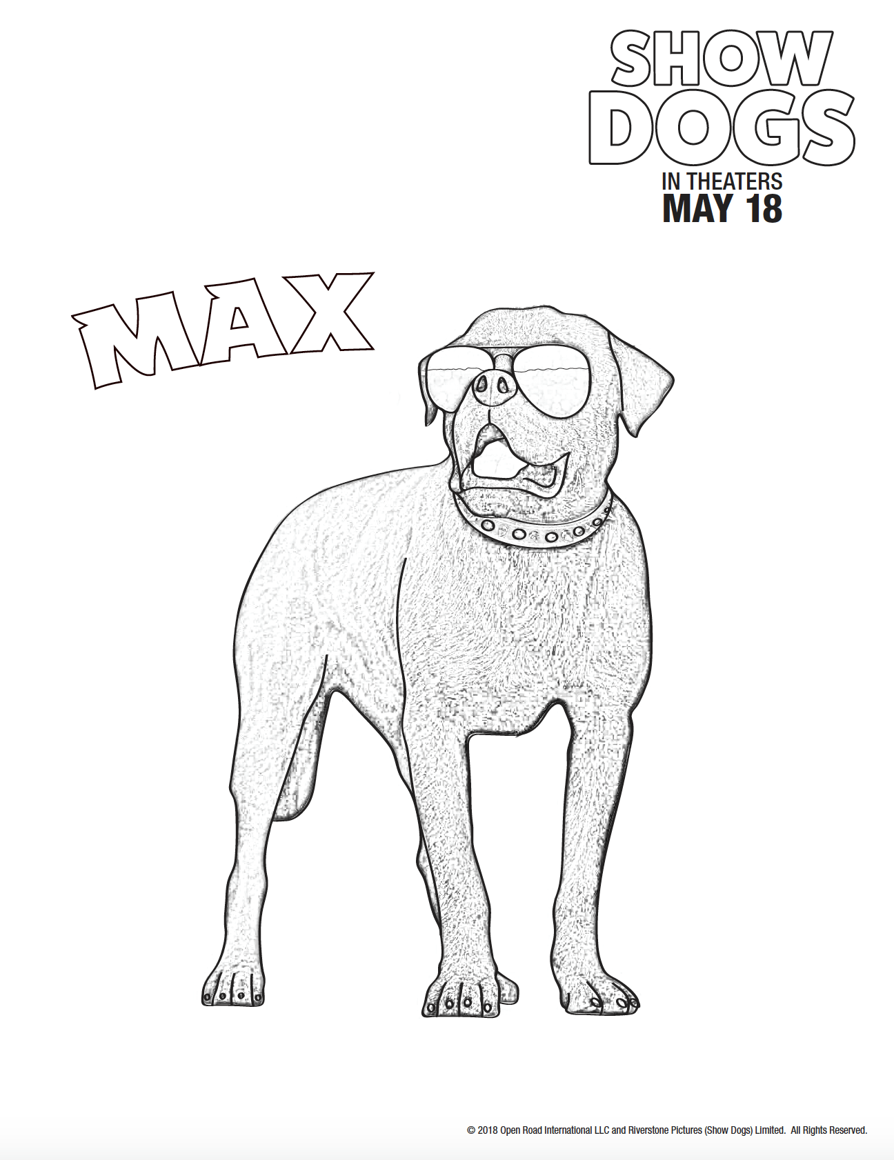 Dog Coloring Pages From The Show Dogs Movie Dog Coloring Page Dog Movies Coloring Pages [ 1682 x 1296 Pixel ]