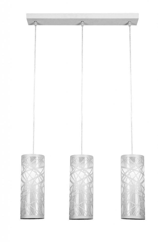 Lampadario moderno acciaio bianco lampada sospensione for Bianco leroy merlin