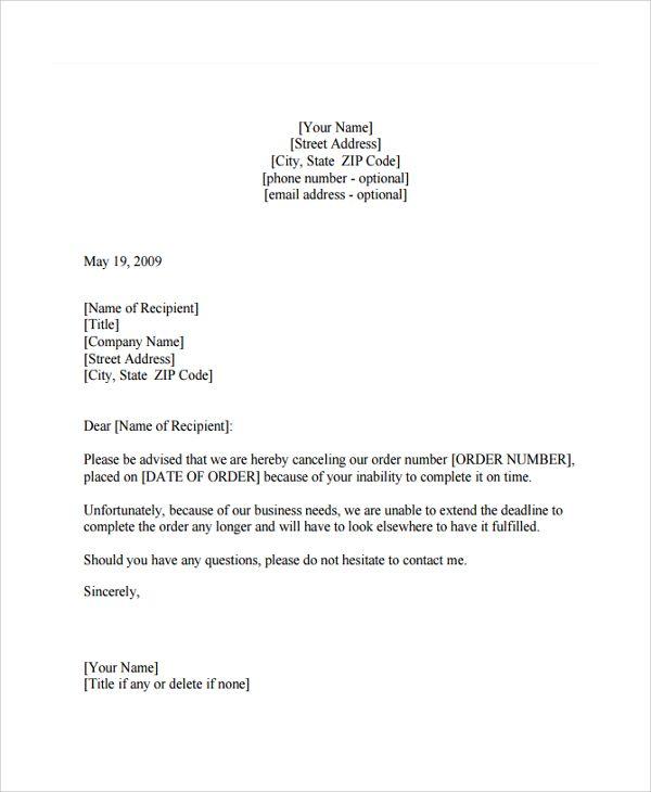 Sample Order Letter Documents Pdf Word Business Letters For Answer   Order  Letter  Purchase Order Letter Format