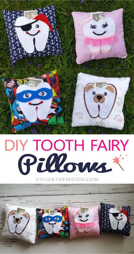 diy tooth fairy pillows tooth fairy