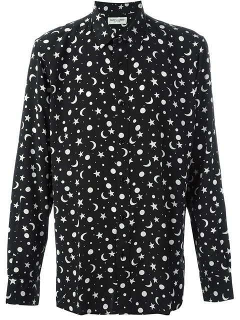 59a4d35a2b9 SAINT LAURENT Star And Moon Print Shirt. #saintlaurent #cloth #shirt ...