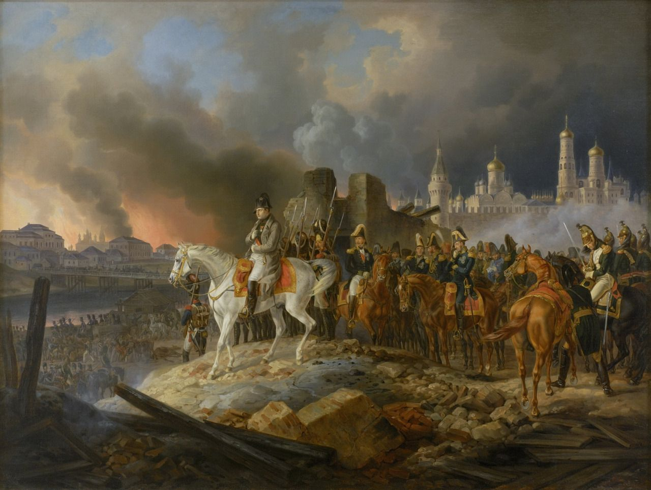 September 14, 1812: Napoleon enters Moscow. One week after winning a bloody  victory over the Russian army at the Battle of Borodino, Napoleon  Bonaparte's ...