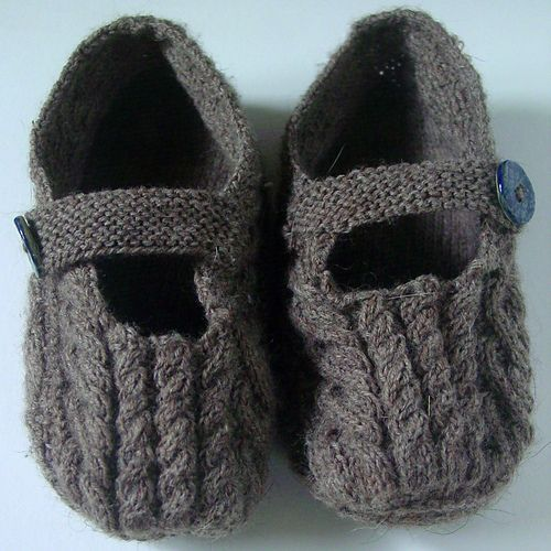Photo of Plain or Cabled Slippers pattern by Patons