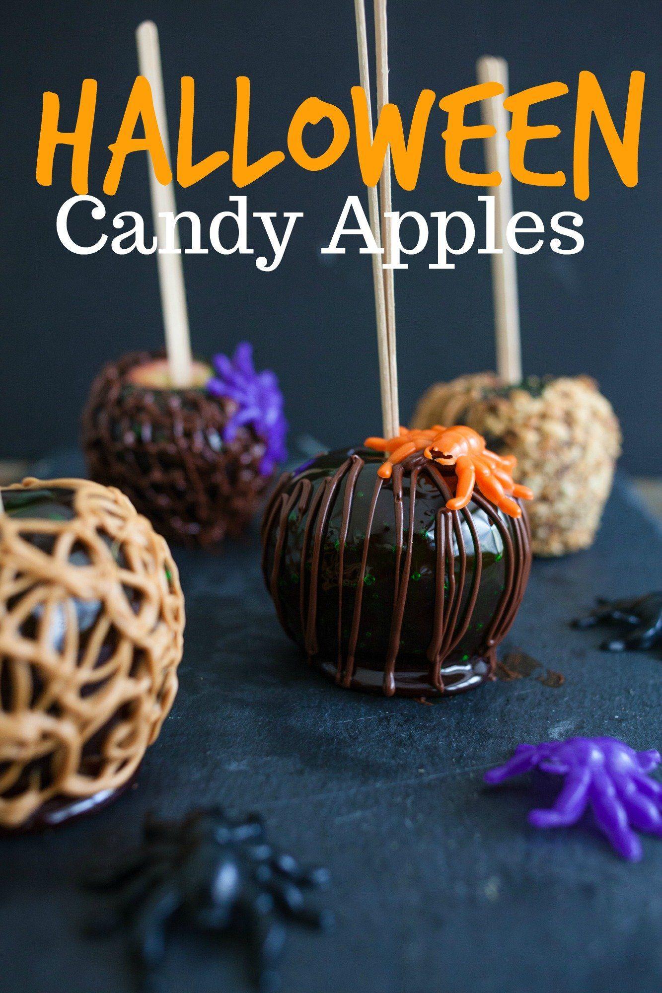 Halloween Candy Apples Halloween candy apples, Candy