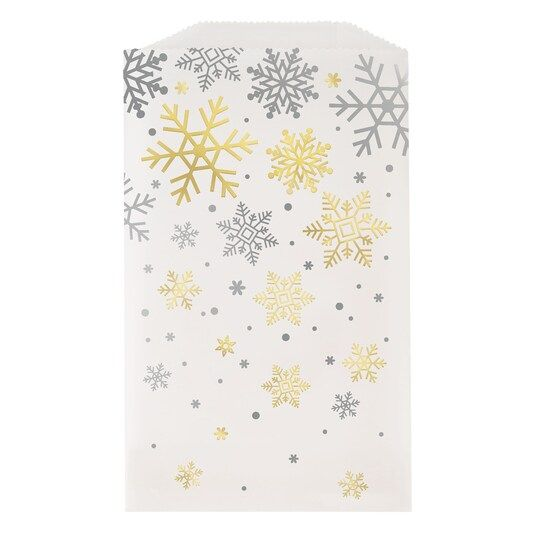 Silver And Gold Snowflakes Holiday Glassine Treat Bags, 8Ct By Unique | Michaels® -   19 best holiday Cookies ideas