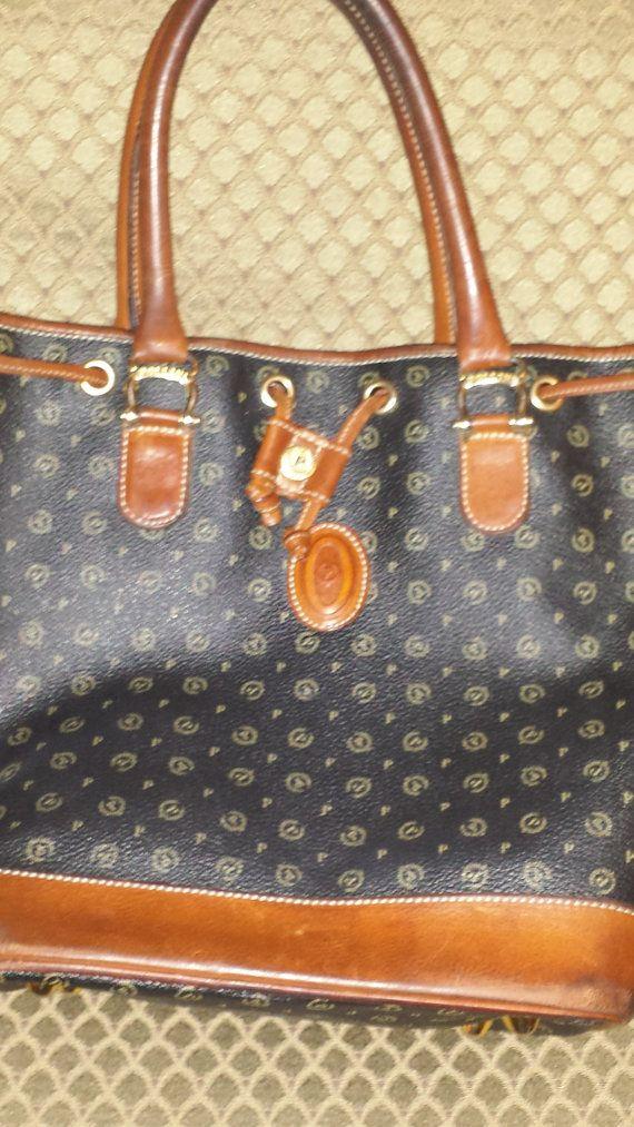 Vintage Pollini Monogram Drawstring Bucket Handbag Only 44 95 On Etsy At S