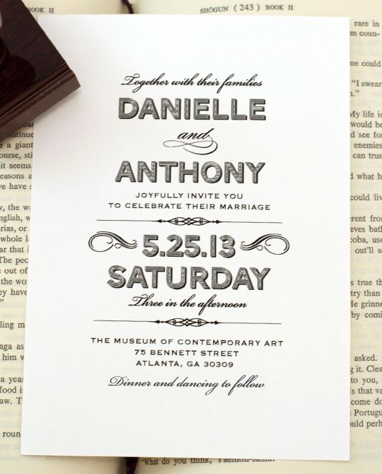 Lovely Vintage Wedding Invitations