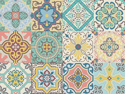 Vinilo decorativo autoadhesivo con dise o de azulejos por - Papel vinilo autoadhesivo ...