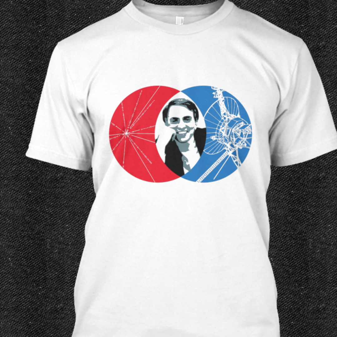 T shirt design huntsville al - Carl Sagan T Shirts With Images Of The Voyager Probe That Carried The Golden Record