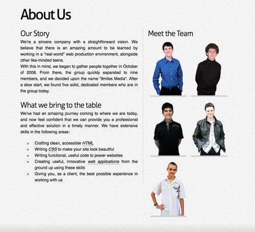 Superior Meet The Team Pages Examples And Trends Met And Ui Ux   Company Bio Template With Company Bio Template