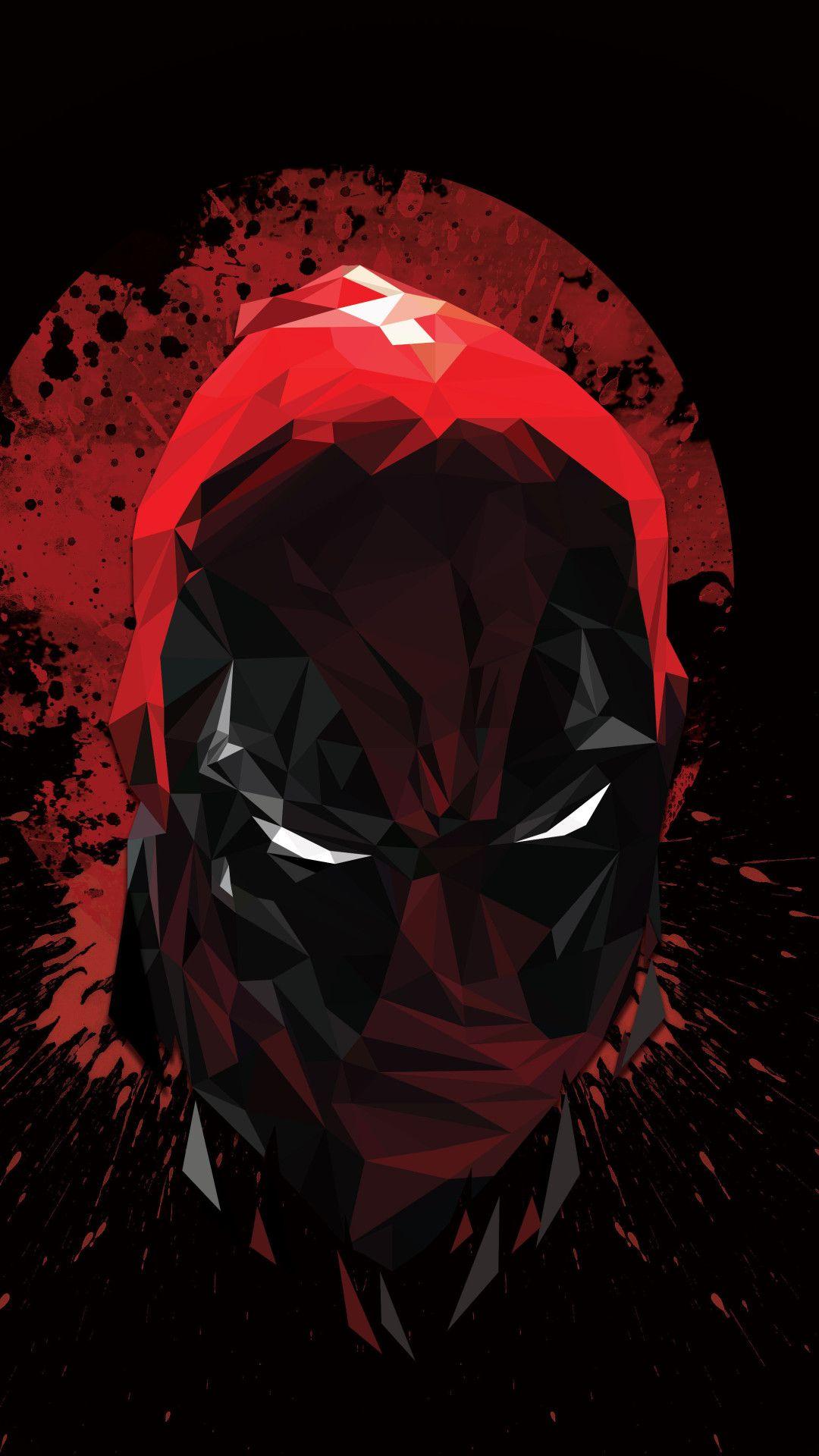 Deadpool Low Poly Artwork 4k Mobile Wallpaper (iPhone