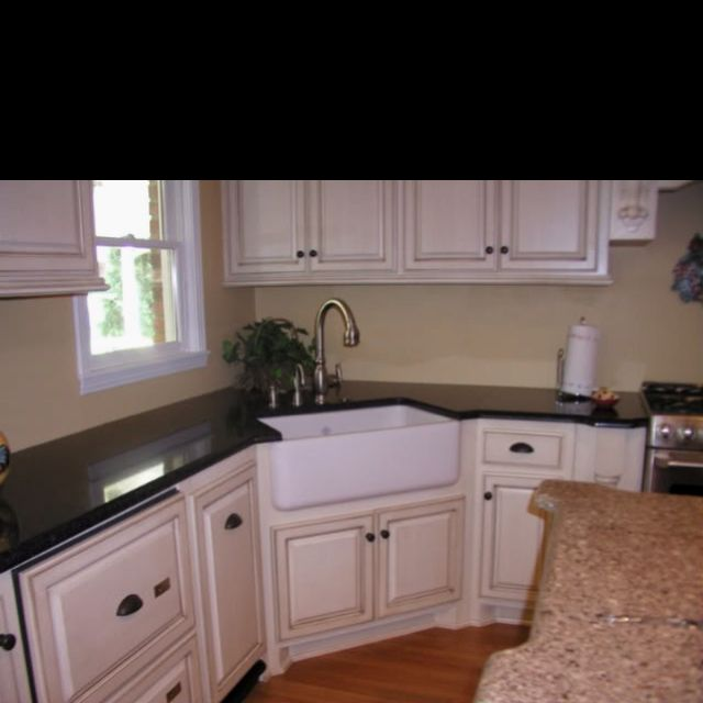 Pin By Liz Sers Mcdermott On For The Home Corner Sink Kitchen Corner Kitchen Sink Corner Sink