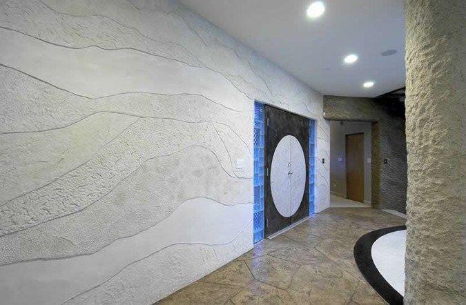 Rock Layers Grey Interior Walls Everlast Concrete Inc Steger Il Concrete Decor Concrete Wall Interior Walls