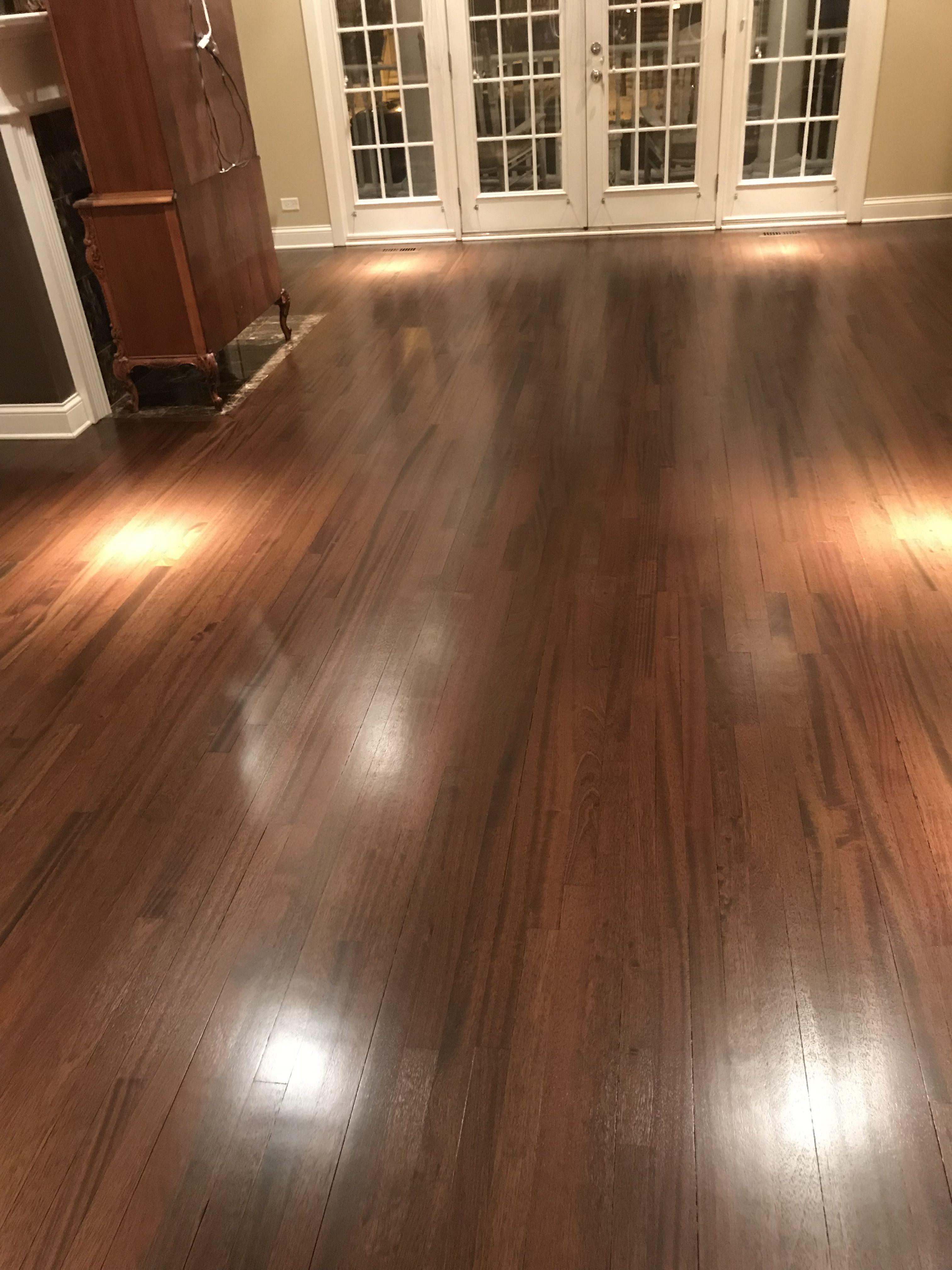 Brazilian Cherry Hardwood Floor With Dark Walnut Stain In 2020 Brazilian Walnut Floors Cherry Hardwood Flooring Brazilian Cherry Hardwood Flooring