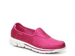 72c7e1033955 Skechers GOwalk Untamed Slip-On Walking Shoe in Pink - Womens • hot pink  walking shoes. dark pink casual sneakers. casual shoes. comfortable  sneakers. ...