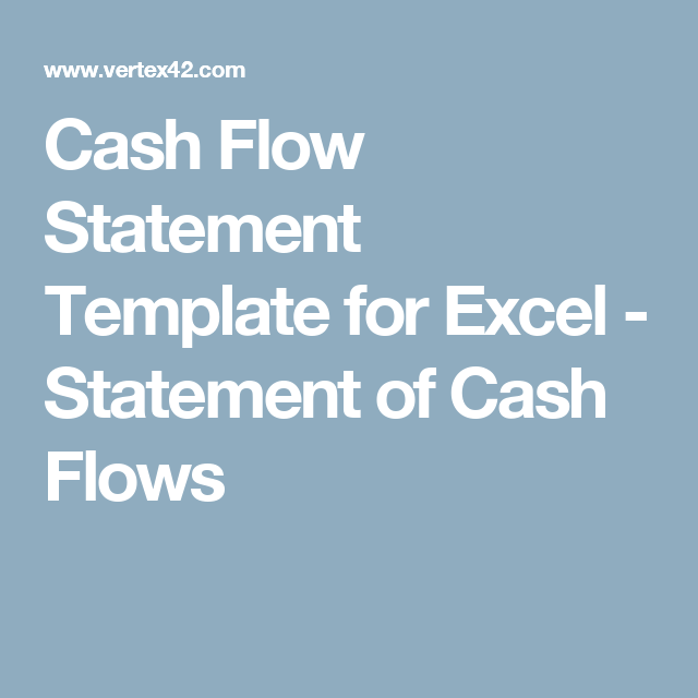 cash flow statement template for excel statement of cash flows