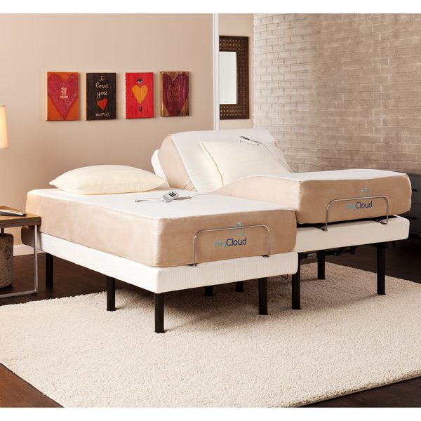 Best Mycloud Adjustable Bed Split King Size With 10 Inch Gel 400 x 300