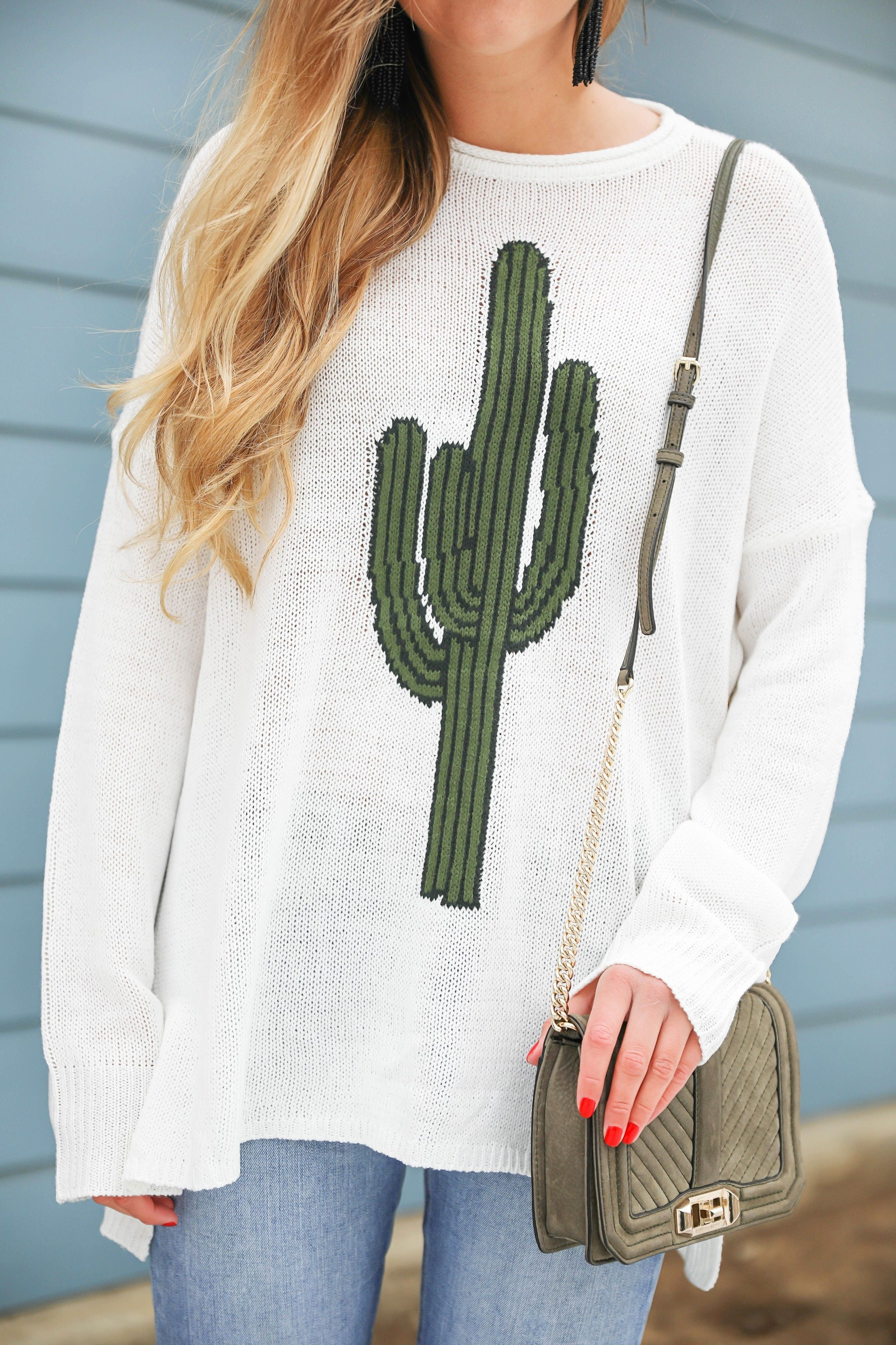 Super cute cactus sweater for spring and summer! This sweater is by Show Me  Your Mumu. I love their spring cactus line 24fd1cb25