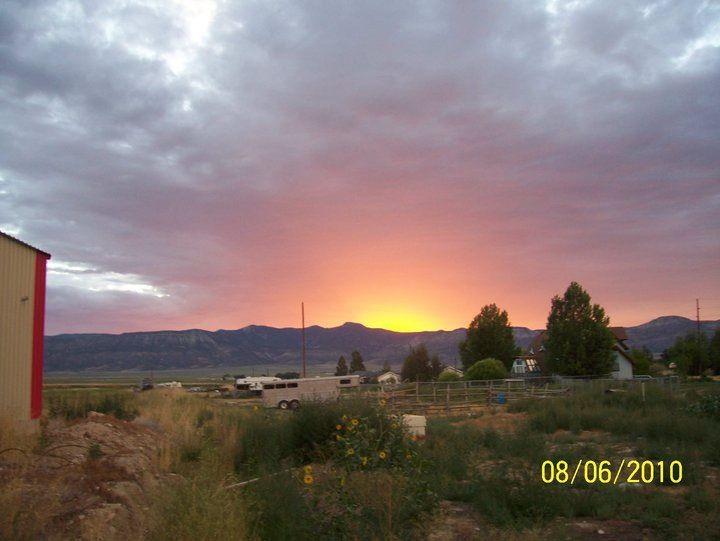 Sunset In Ephraim Utah Ephraim Utah Utah Mormon Pioneers