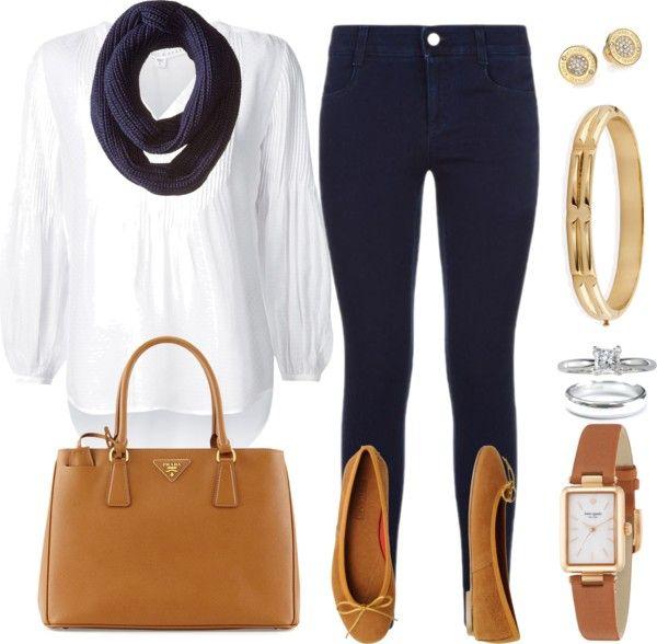 Mis combinaciones diarias: Blusa Blanca Pantalón Azul Oscuro