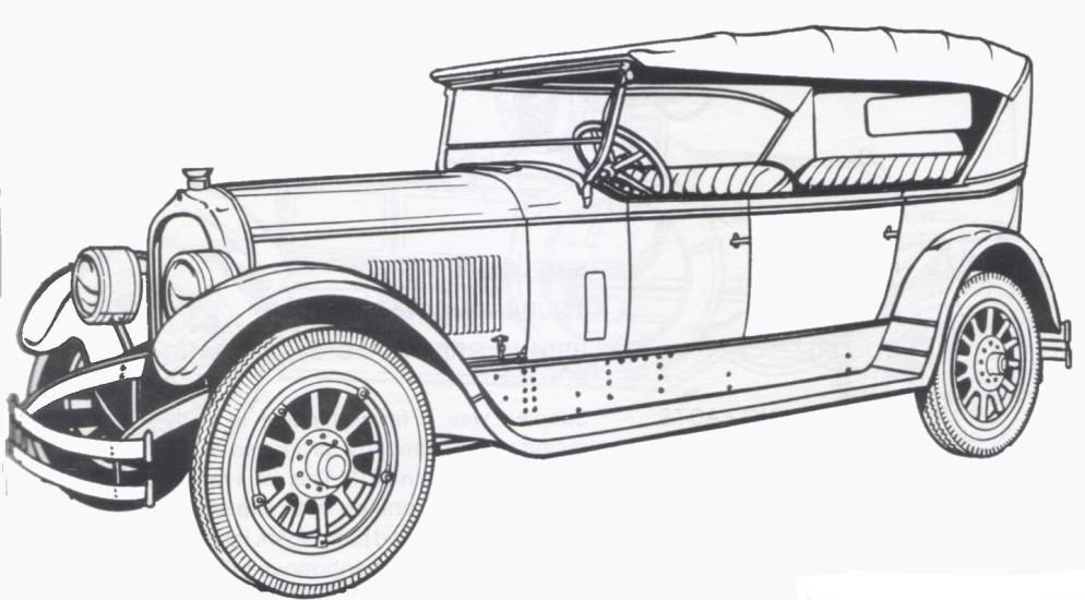 1924 Marmon Classic Old Car Coloring Pages Coloring Book