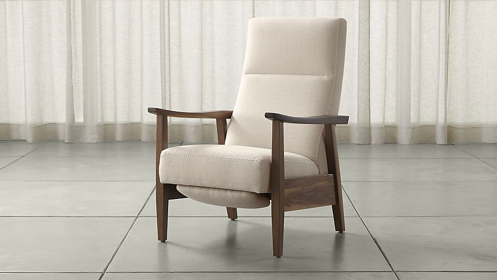 Greer Mid Century Recliner + Reviews Crate and Barrel