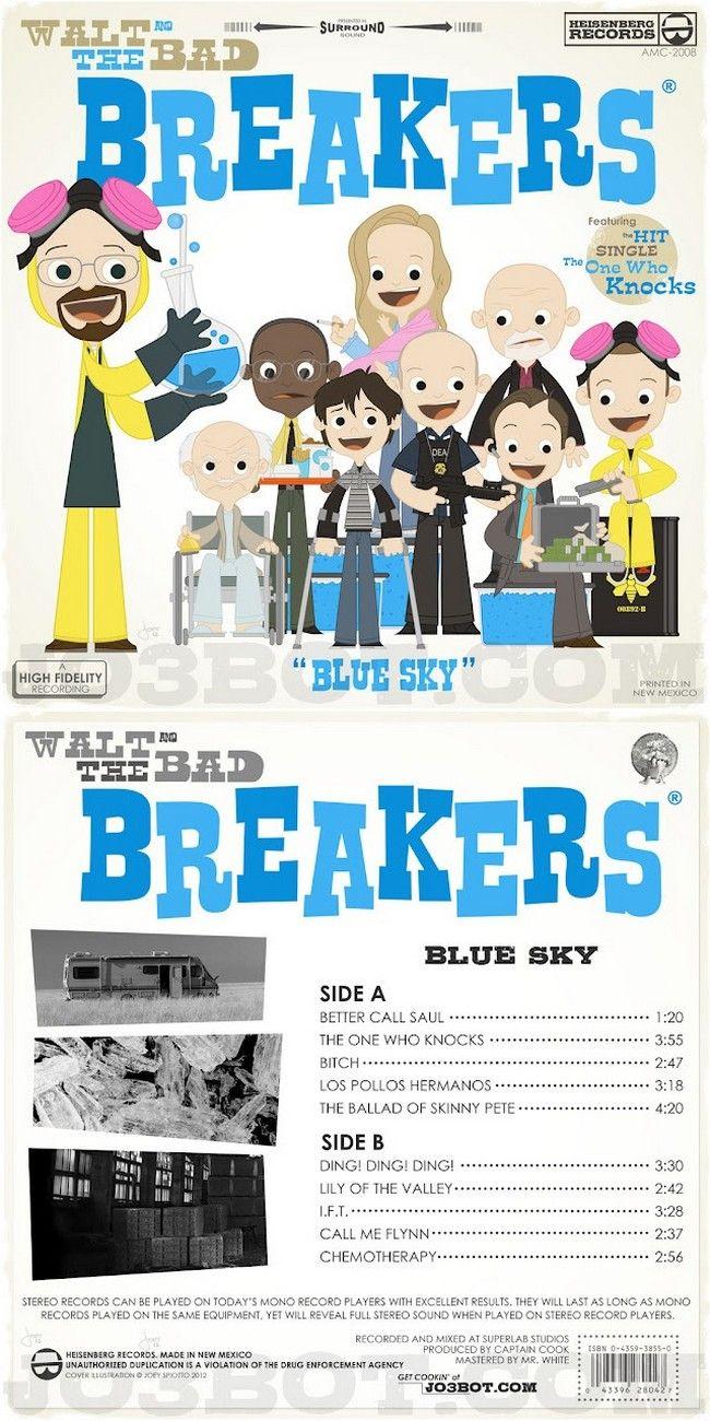 Walt and the Bad Breakers (Breaking Bad tribute album design