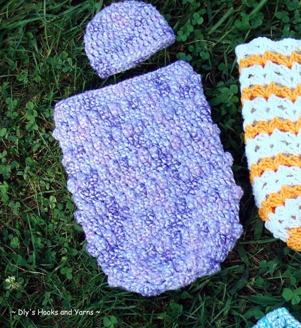 Dlys Hooks And Yarns Bubbles Preemie Baby Cocoon Crochet