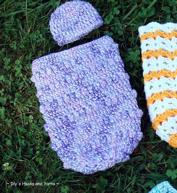Bubbles\' preemie baby cocoon ~ ~ free pattern | Crochet patterns ...