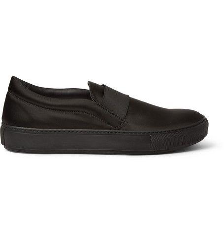 Acne Studios Black Suede Studded Sloane Loafers zA29m9uBh
