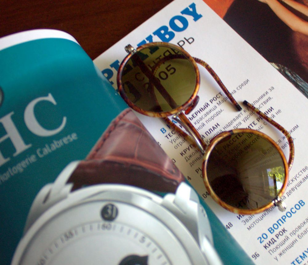 30s Original Vintage Bakelite turtle Frame Round Green GLASS Lens Sunglasses