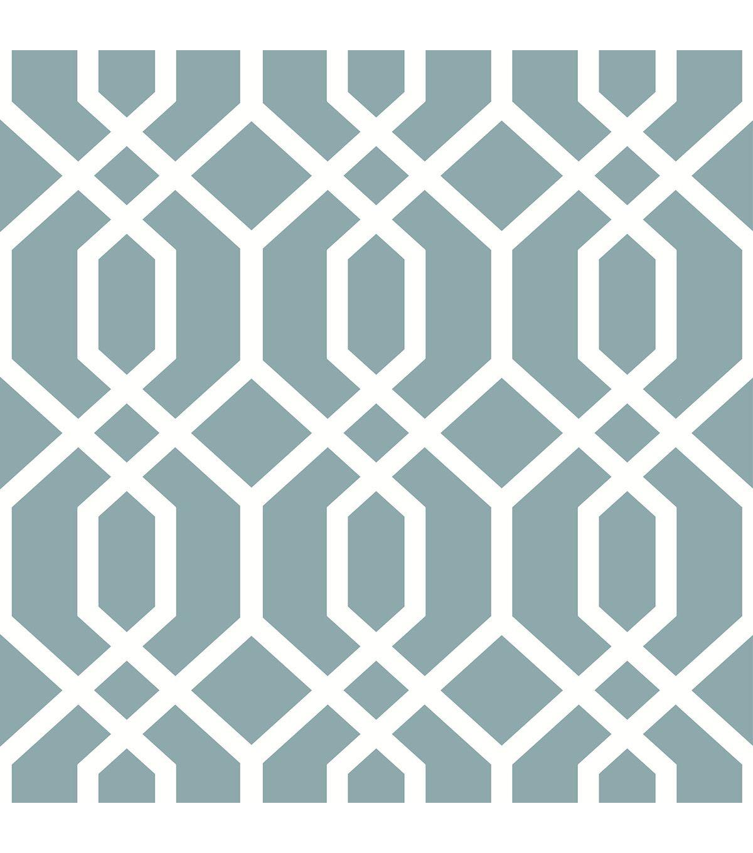 WallPops® NuWallpaper™ Blue Montauk Lattice Peel & Stick
