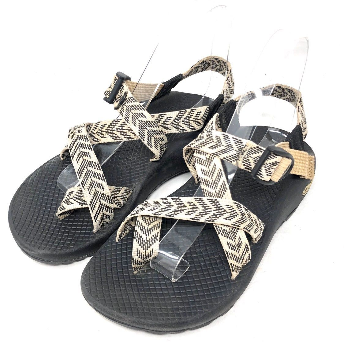 Chaco z2 classic black white chevron toe loop sports