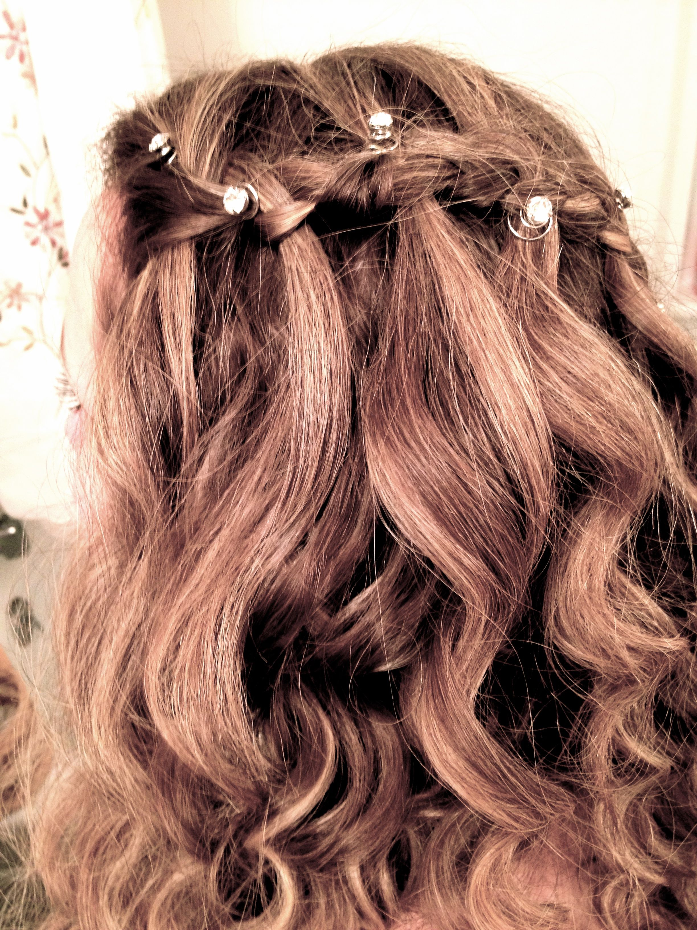 Waterfall braid. #waterfall #braid #prom #hair #pretty ...