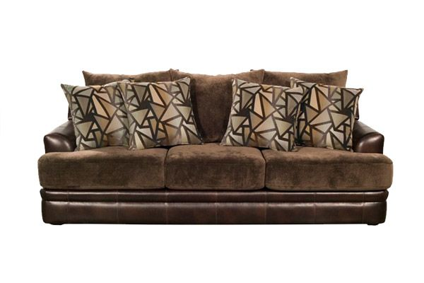 Nebraska Furniture Mart U2013 Robert Michaels Contemporary Sofa In Chocolate