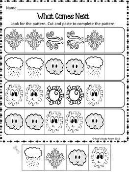 PATTERNS: Weather Patterns Worksheets | Przedszkole | Pinterest ...