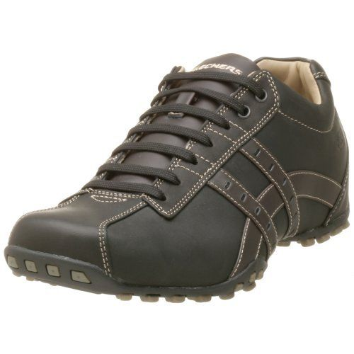 Skechers Men's Midnight Bike Toe Oxford | Feet Loving Shoes