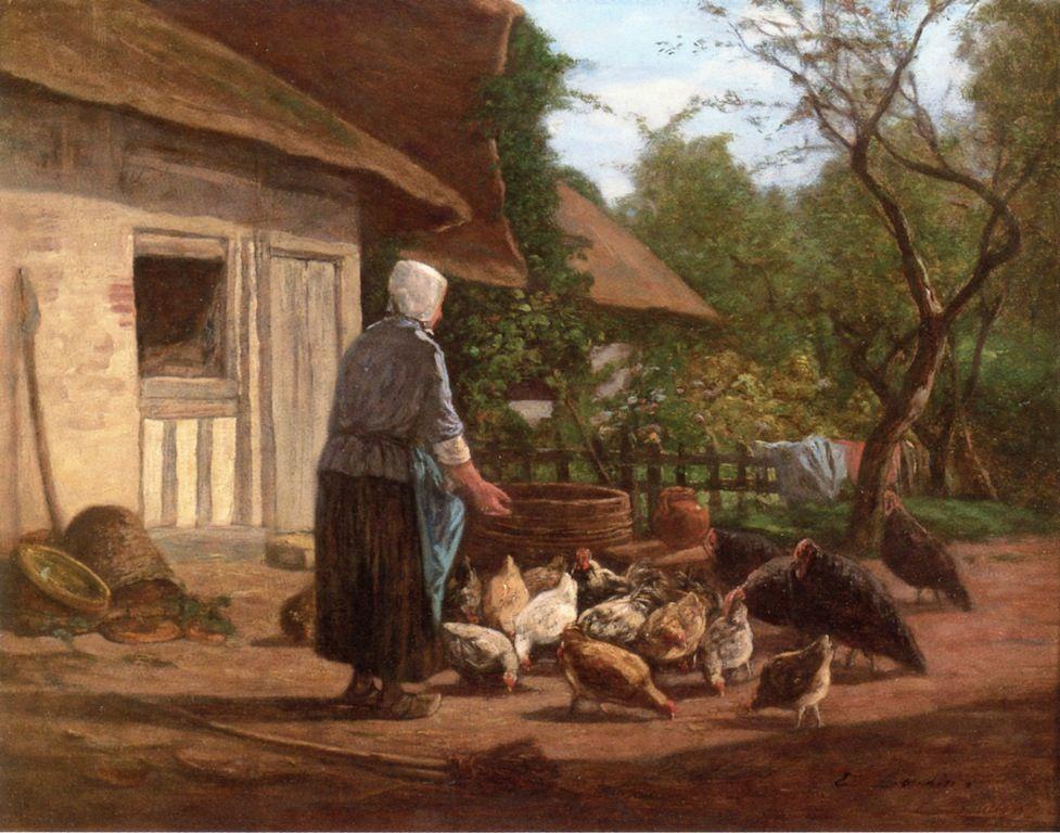 The Athenaeum - Farm Yard in Normandy (Eugène-Louis Boudin ...
