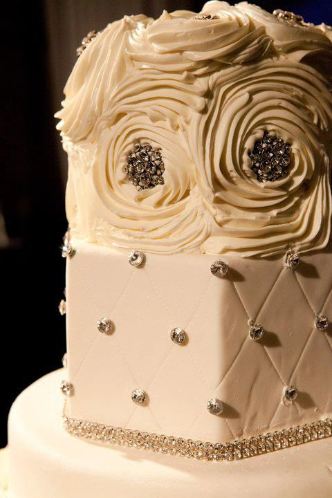 rhinestone trimming is perfect for your wedding cake! sold here at ...
