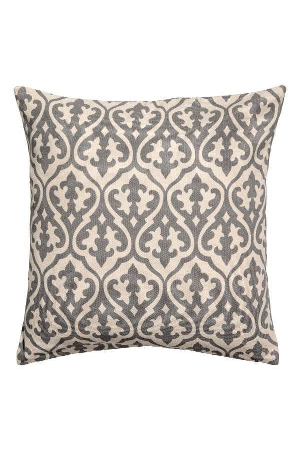 Hm H M Patterned Cushion Cover Whitegray Patterned H M