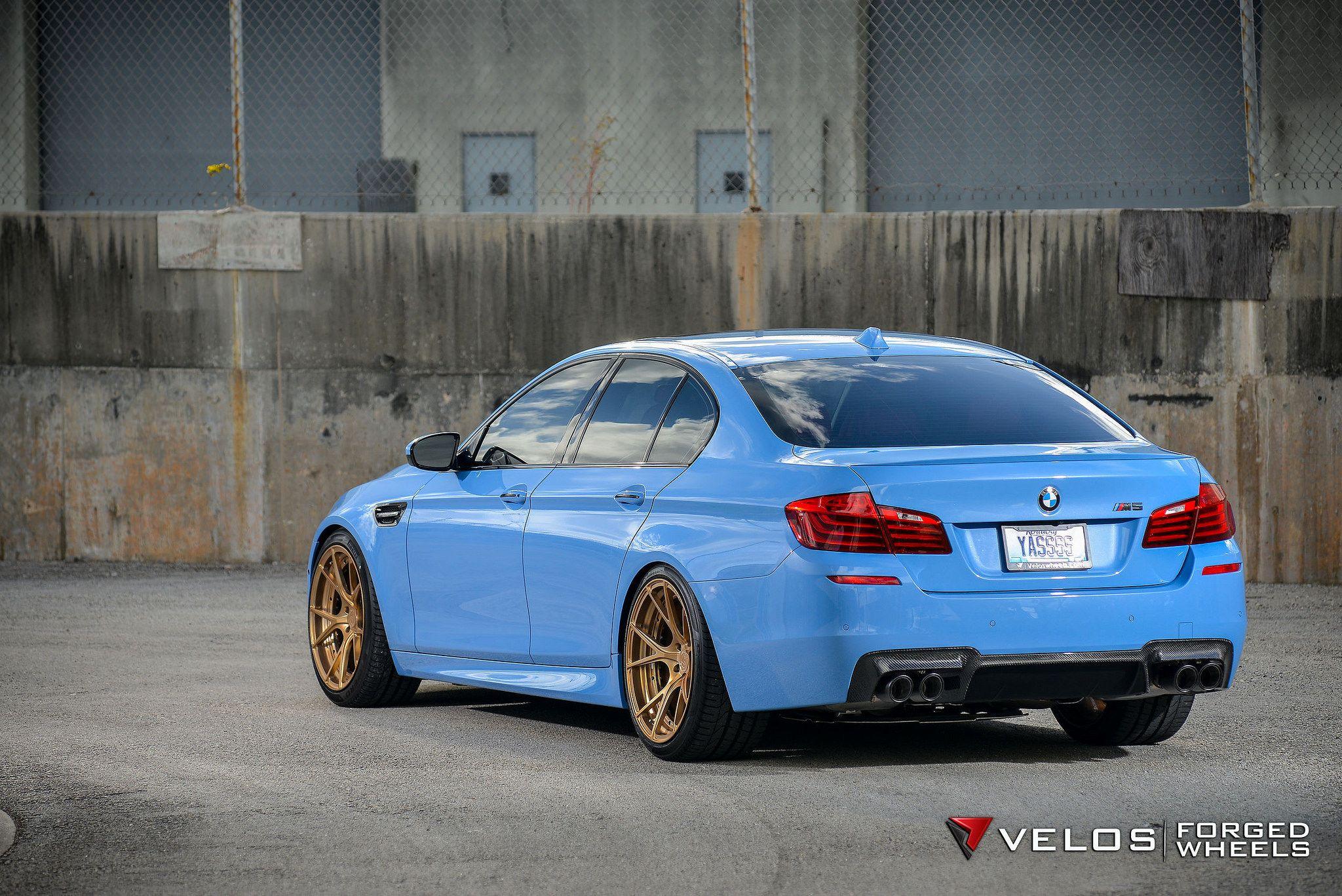 Bmw F10 M5 Sedan Velos Design Wheels Light Blue Monster Bmw