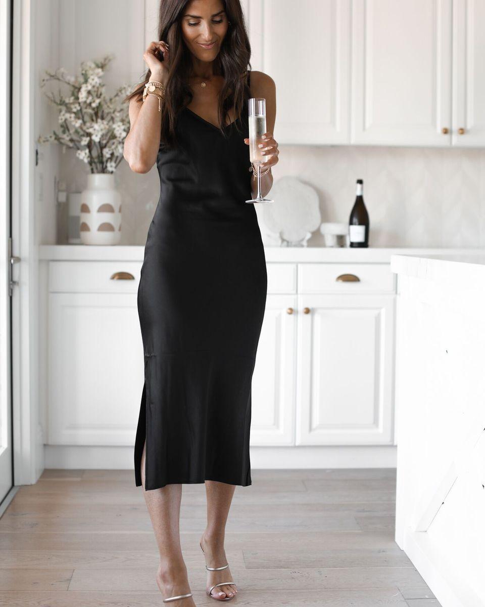 Date Night Black Dress Outfit Party Pretty Black Dresses Black Dress [ 1200 x 960 Pixel ]