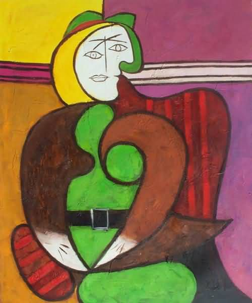 The Dream by Picasso 9x12 inch on Zweigart Needlepoint Canvas ready to finish