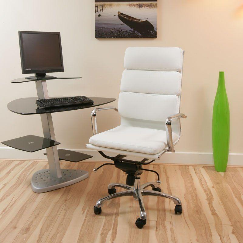 Furnitures elegant modern white office chair design