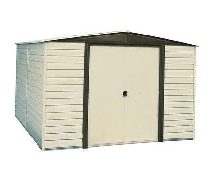 Arrow Storage Buildings Arrow Storage Dallas 10 X 8 Vinyl Shed Beige Bisque Steel Storage Sheds Vinyl Sheds Steel Sheds