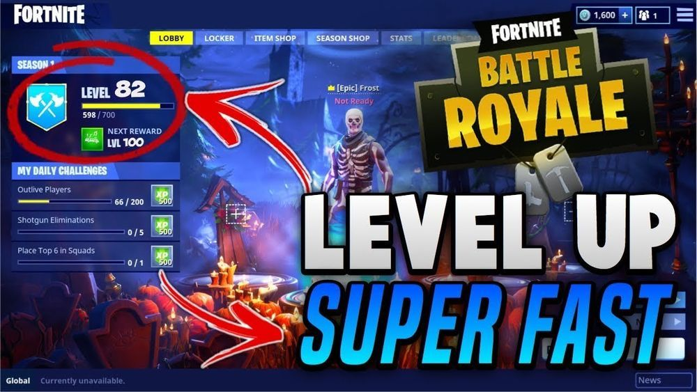 fortnite level up rank up boost service 10 000 xp pc only - levels in fortnite xp
